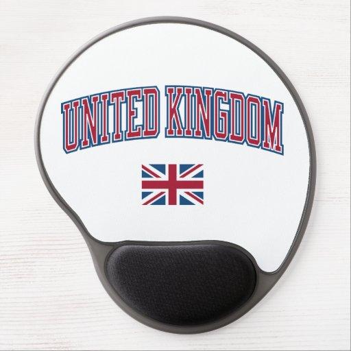 United Kingdom + Flag Gel Mouse Pads