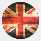 United Kingdom Flag Grunge Classic Round Sticker