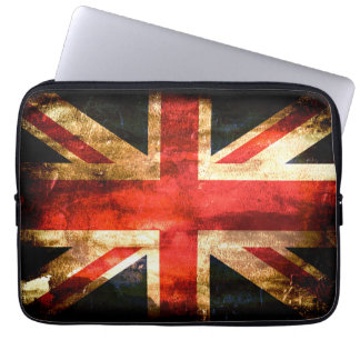 United Kingdom Flag Grunge Laptop Sleeve