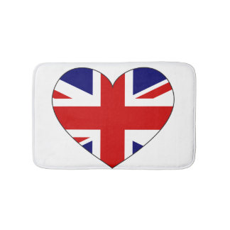 United Kingdom Flag Heart Bath Mat