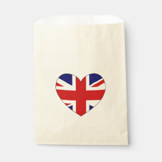 United Kingdom Flag Heart Favour Bags