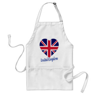 United Kingdom Flag Heart Standard Apron