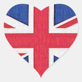 United Kingdom Flag - I love the U.K. Heart Sticker
