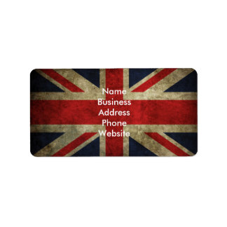 United Kingdom Flag Label