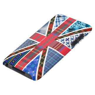United Kingdom Flag of Tartan and Fabric patterns iPod Touch Case