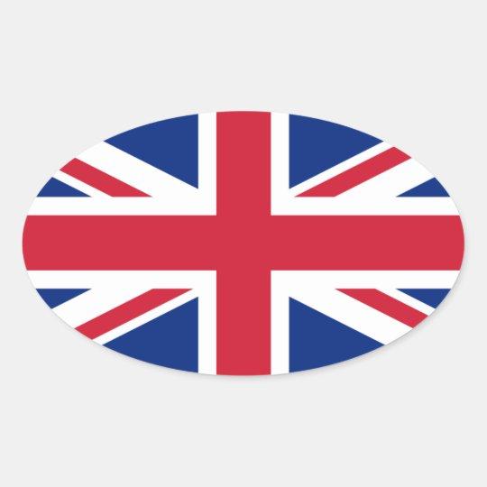 United Kingdom* Flag Oval Sticker