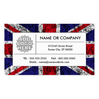 united kingdom flag pack of standard business cards