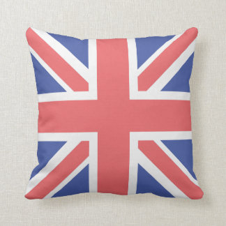 United Kingdom Flag Polyester Throw Pillow