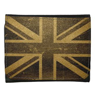 United Kingdom Flag Vintage #2 Leather Wallet