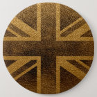 United Kingdom Flag Vintage #3 6 Cm Round Badge