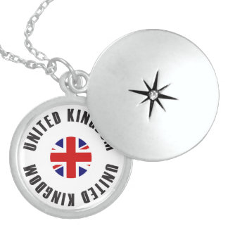 United Kingdom Flag Wheel Locket Necklace