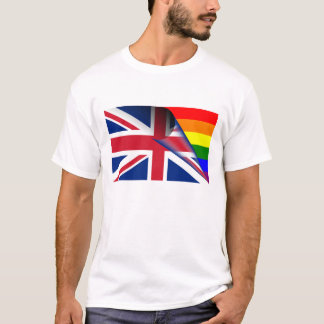 United Kingdom Gay Pride Rainbow Flag T-Shirt