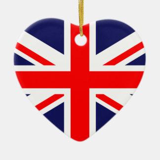 United Kingdom Great Britain UK national flag Ceramic Heart Decoration