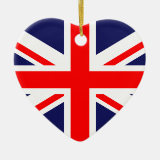 United Kingdom Great Britain UK national flag Christmas Ornament