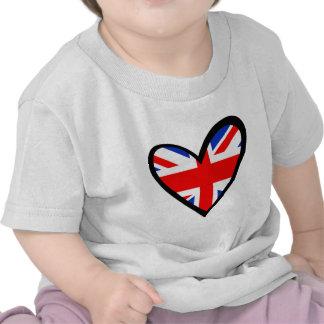 United Kingdom Heart Flag T-shirt