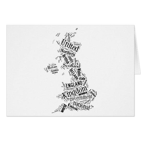 United Kingdom in Tagxedo Card