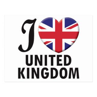 United Kingdom Love Postcard
