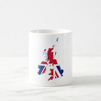 United Kingdom map Flag GB Basic White Mug
