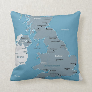 United Kingdom Map Pillow