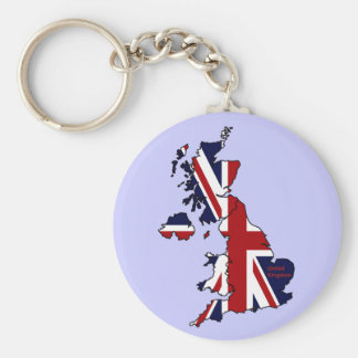 United Kingdom Mapped Keychain