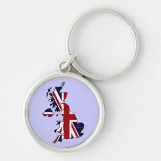United Kingdom Mapped Premium  Keychain