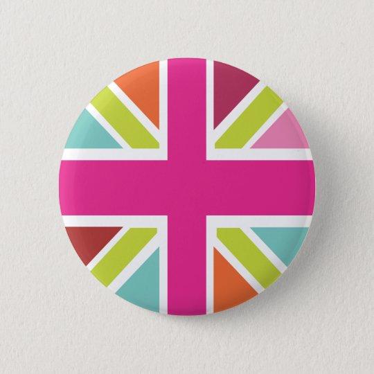 United Kingdom multi colour flag button