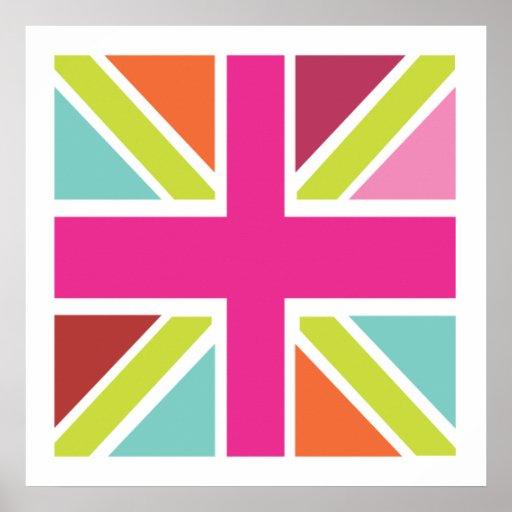 United Kingdom Multi Colour Flag Print