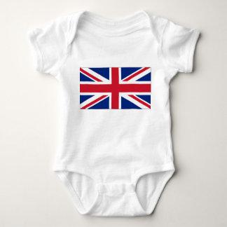 United Kingdom National Flag Baby Bodysuit