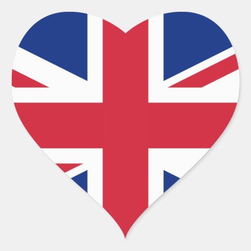 United Kingdom National Flag Heart Sticker