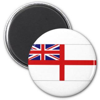 United Kingdom Naval Ensign White Ensign 6 Cm Round Magnet