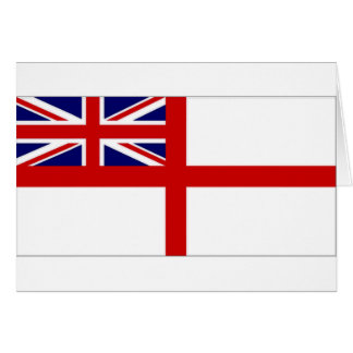 United Kingdom Naval Ensign White Ensign Card