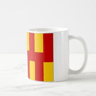 United Kingdom Northumberland Flag Basic White Mug