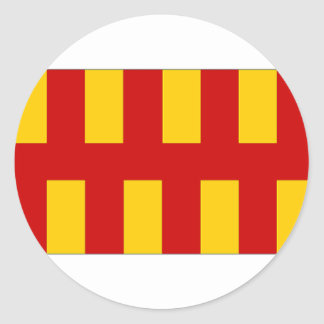 United Kingdom Northumberland Flag Round Sticker