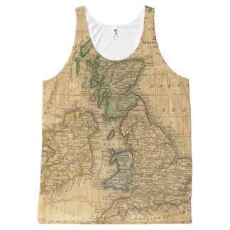 United Kingdom of England, Scotland and Ireland All-Over Print Tank Top