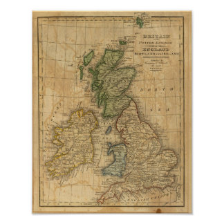 United Kingdom of England, Scotland and Ireland Poster