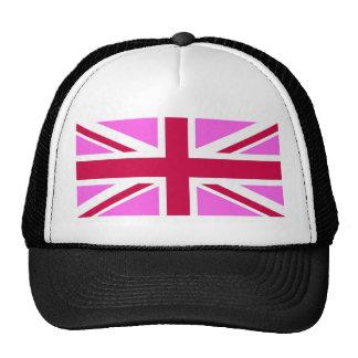 united kingdom pink flag gay proud great britain cap