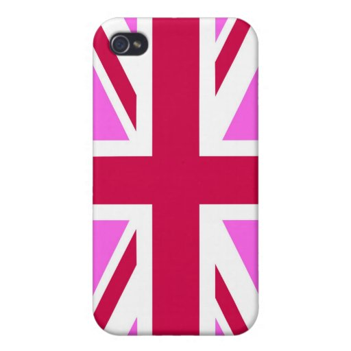 united kingdom pink flag gay proud great britain cases for iPhone 4