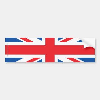 United Kingdom Plain Flag Car Bumper Sticker