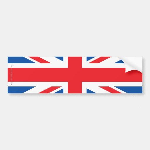 United Kingdom Plain Flag Bumper Sticker
