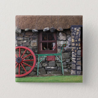 United Kingdom, Scotland, Isle of Skye, stone 15 Cm Square Badge