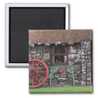 United Kingdom, Scotland, Isle of Skye, stone Square Magnet