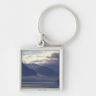 United Kingdom, Scotland. Loch Duich Silver-Colored Square Key Ring