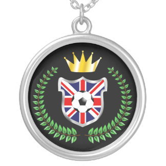 United Kingdom Shield Silver Plated Necklace