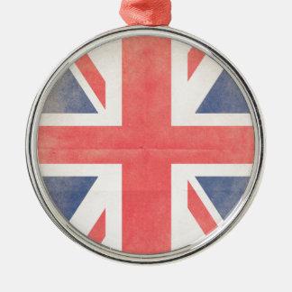 United Kingdom Silver-Colored Round Decoration