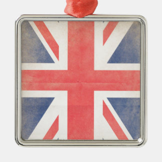 United Kingdom Silver-Colored Square Decoration