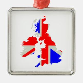 United Kingdom Silver-Colored Square Decoration