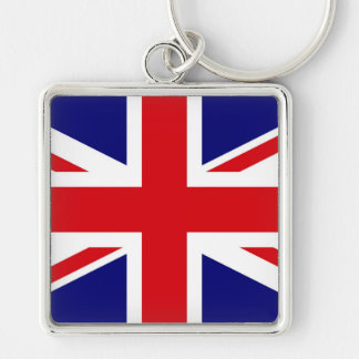 UNITED KINGDOM Silver-Colored SQUARE KEY RING