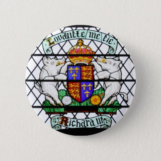 UNITED KINGDOM STAINED GLASS RICHARD III 6 CM ROUND BADGE