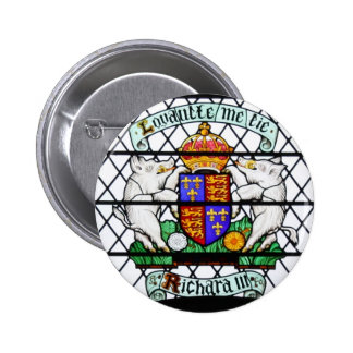 UNITED KINGDOM STAINED GLASS RICHARD III PINBACK BUTTONS