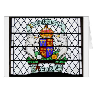 UNITED KINGDOM STAINED GLASS RICHARD III CARD